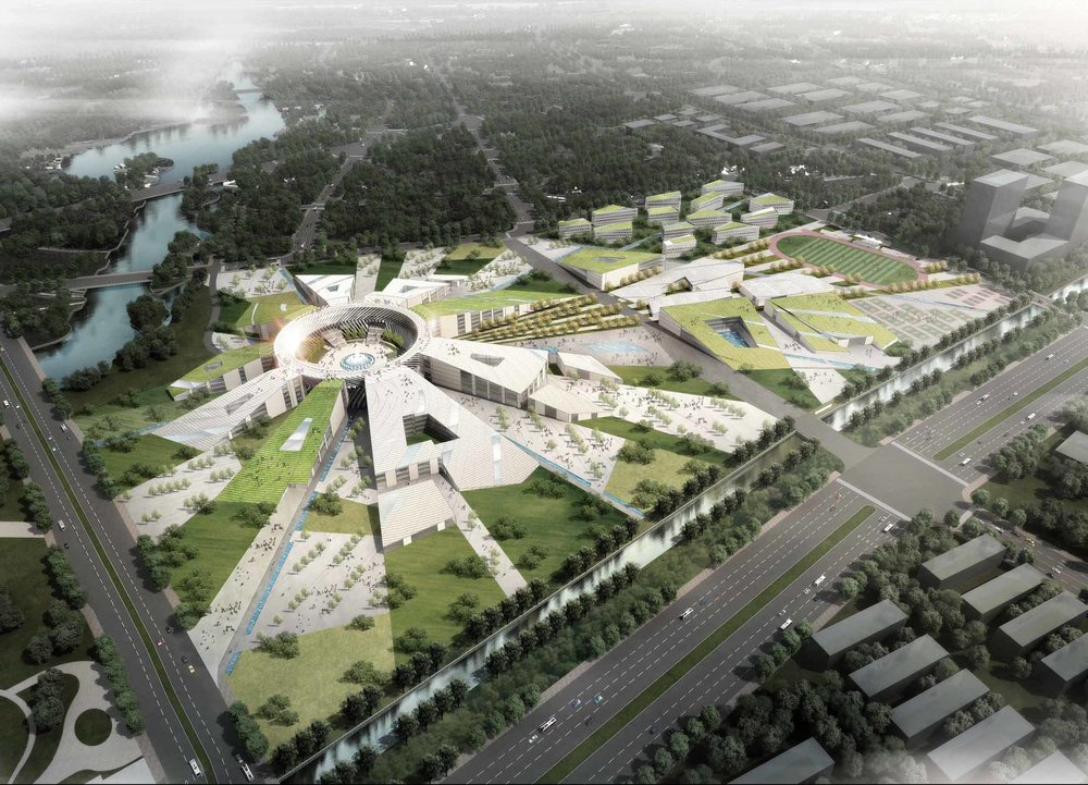Masterplan - Sci Tech University, Zhejiangs, China