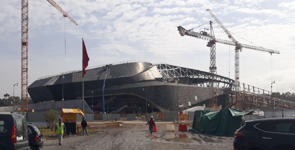 Grand Theatre de Rabat construction, Morocco.Image Copyright AKTII