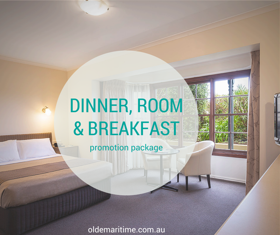 dinner room and breakfast promo