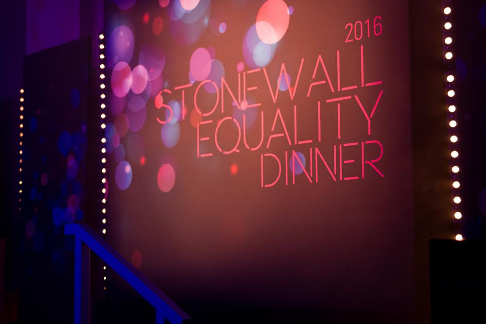 Creventive Hilton Park Lane Stonewall Charity Dinner Design Production Lighting Sound AV