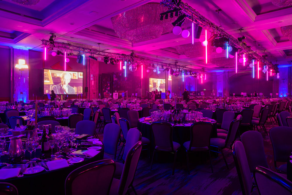 Creventive Hilton Park Lane Corporate Awards Charity Dinner Event Production Design