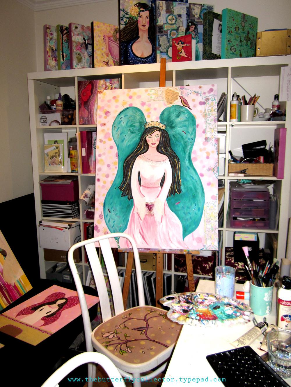 angel in my studio shae leviston