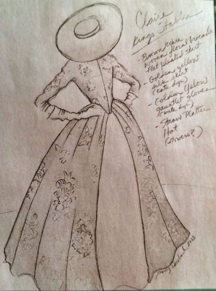 Sketch by Terry Dresbach for Outlander