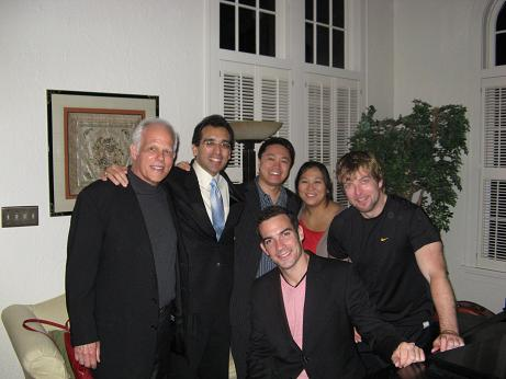 (Left to Right) John Owings, Jésus Castro-Balbi, Miró Quartet members Daniel Ching, Sandy Yamamoto, John Largess, and Joshua Giudele (seated).