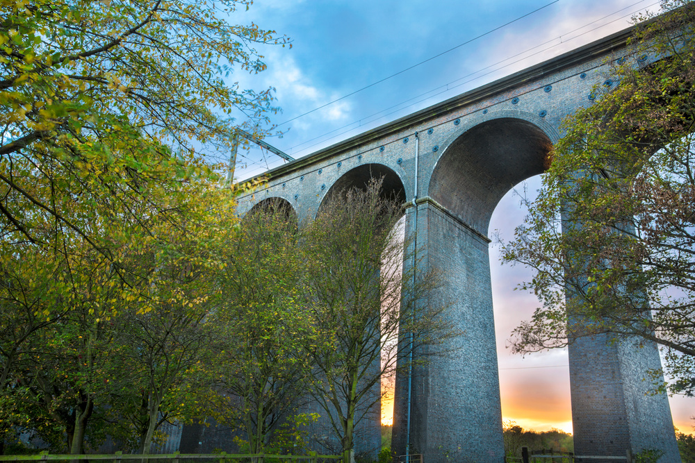 Digswell Viaduct in Autumn