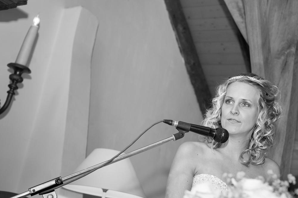 De bruid neemt het woord..