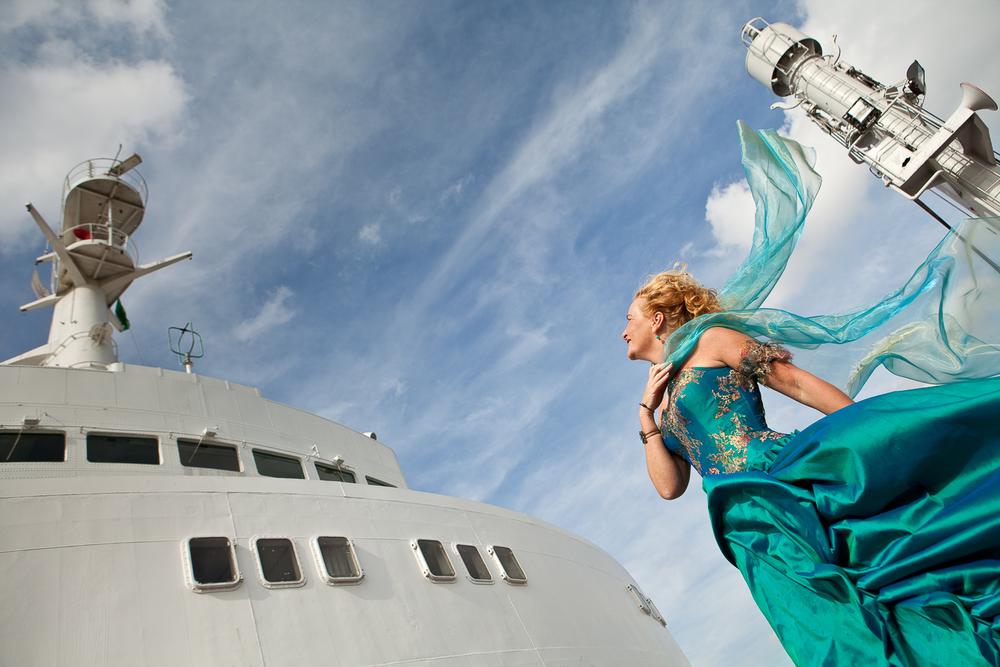 Bruidsreportage op de SS Rotterdam