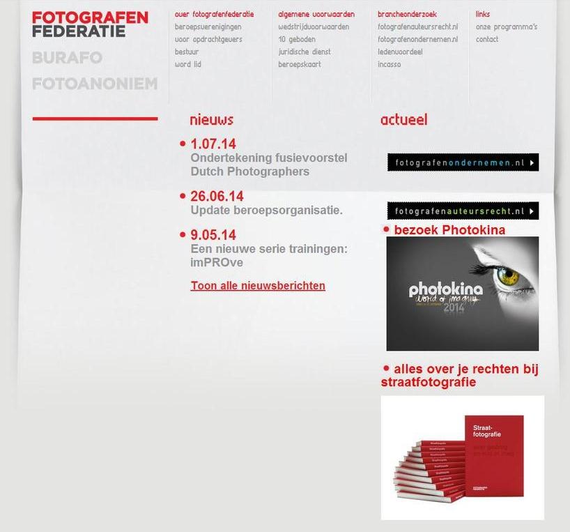 De Fotografen Federatie is de overkoepelende organisatie van de huidige zeven beroepsverenigingen van professionele fotografen. De verwachting is dat medio 2015 alle verenigingen opgaan in de nieuwe vereniging Dutch Photographers Federatie