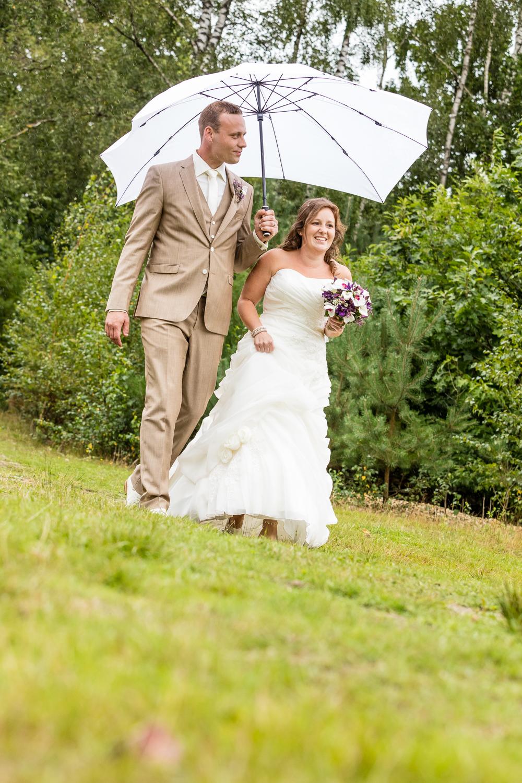 Regen op je trouwdag?