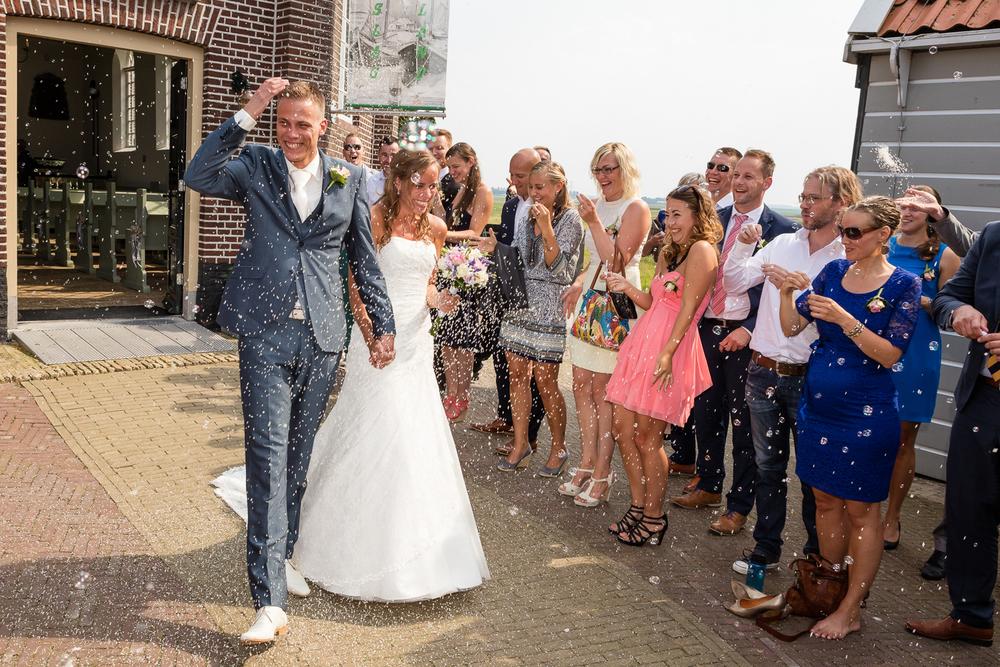 Trouwceremonie Schokland