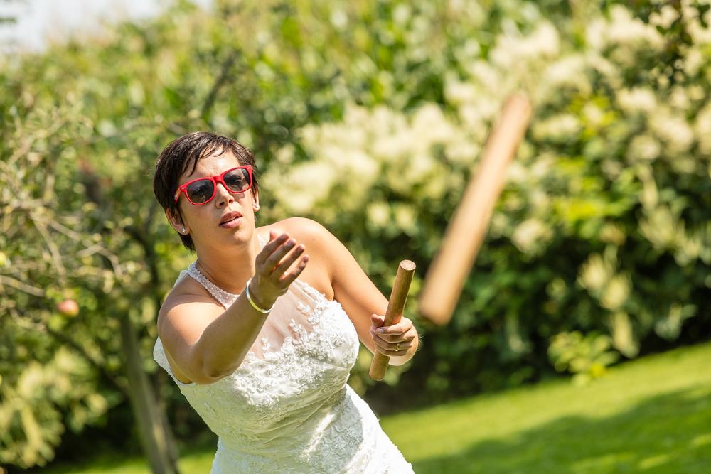 Bruid in actie!