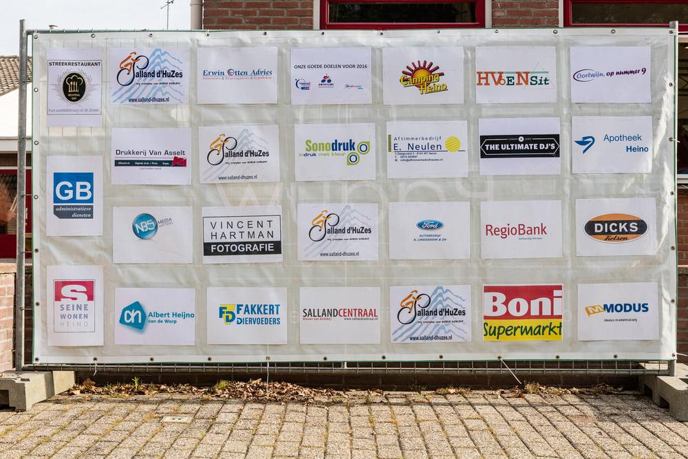 Een overzicht van de sponsoren van de Salland d'Huzes