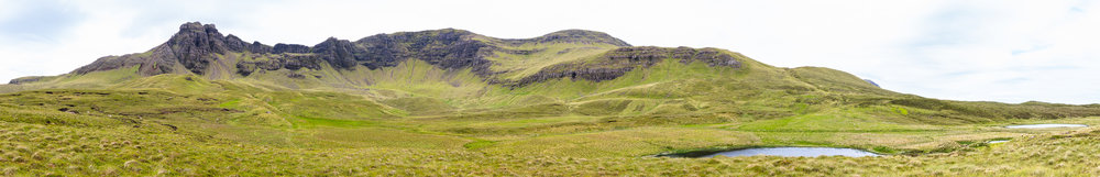 Trotternish Ridge from Loch Cuithir in the Lealt Valley , Isle of Skye