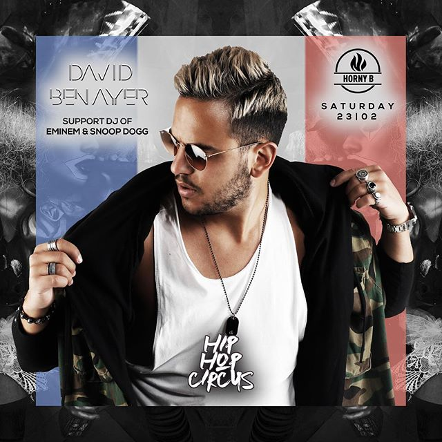 Straight outta Paris 🇫🇷 we present you special guest @davidbenayer (Support-DJ of Snoop Dogg and Eminem) live on Decks at Hip Hop Circus! This gon' be fiyah!! 🔥🔥 __ #dj #davidbenayer #snoopdogg #eminem #paris #djlife #hiphopcircus #stanton #hornyb #lucbelaire #viennadistribution #hiphop #clublife