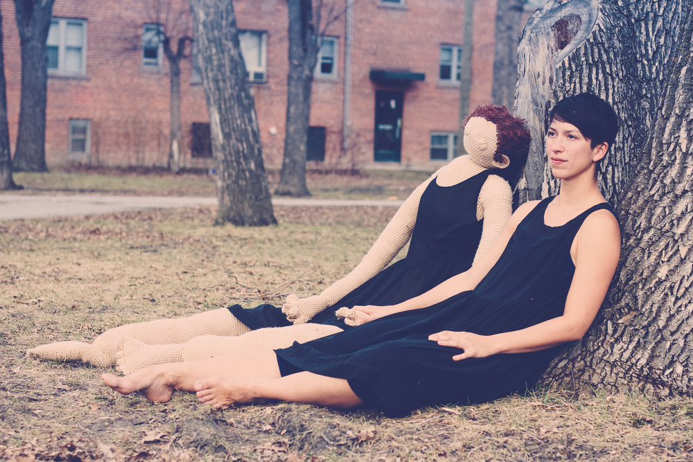 Natasha Torres-Garner in Sedentary Nomad, photo by Lise McMillan