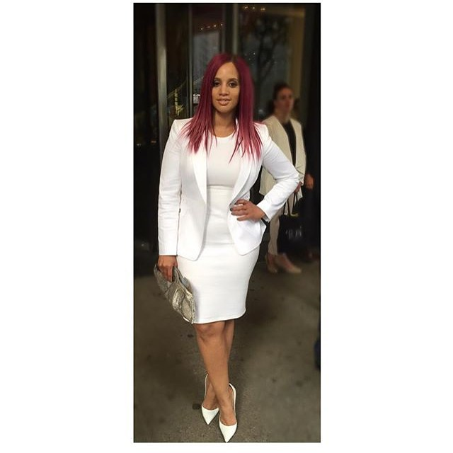 Orange is the new Black star #DaschaPolanco looking fab in all white for #oitnb screening #fashionblogger #memphisblogger #iamtameranichole #tamerascloset. Photo Credit @sheisdash IG