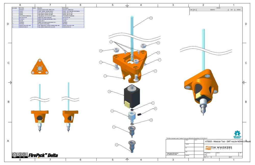 AT0005 - Modular Tool - SMT nozzle NEMA 8 mount
