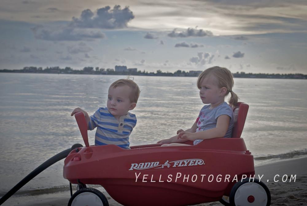 Children in a Wagon