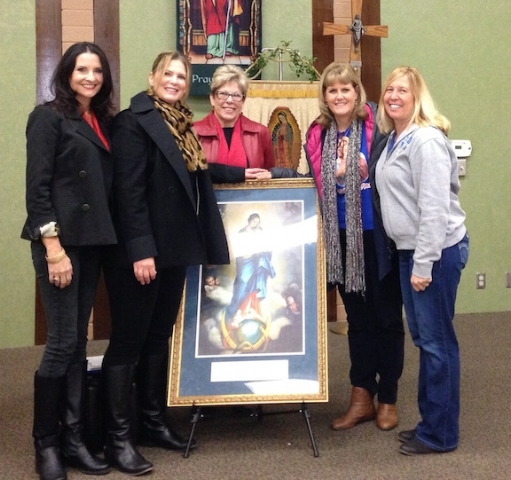 In this photo from Left to Right: Karen Downey, Lisa Ray, Paula Bouch, Michelle Workman, & Theresa Berry