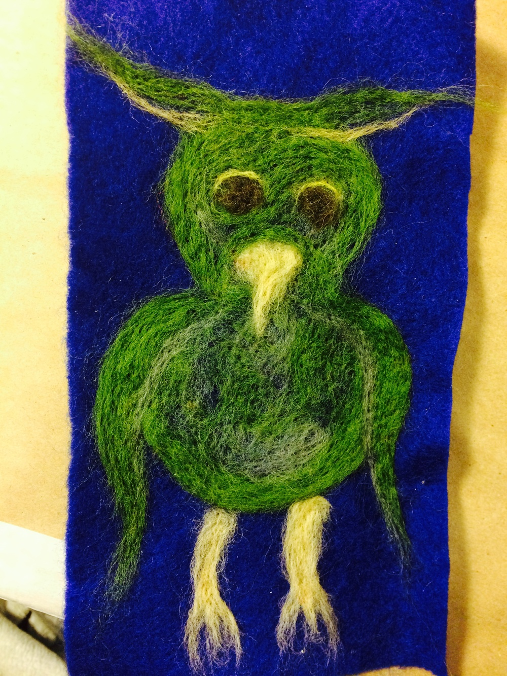 And a sweet owl. What was so lovely in particular was that our regular participants were offering encouragement and tips while we worked with the after school crowd.