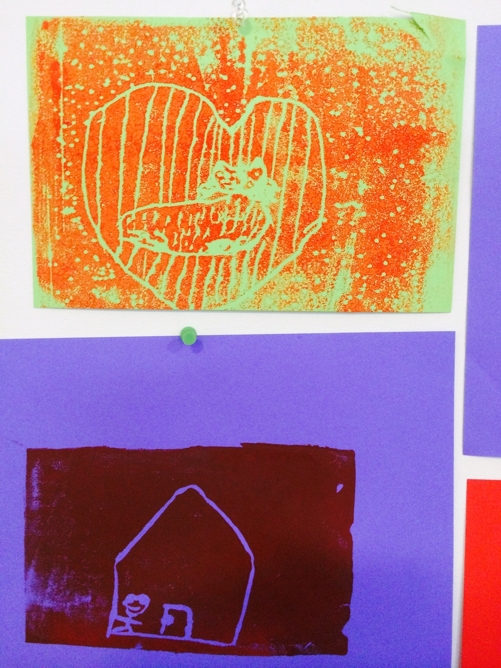 Experimenting with block printing inks and polystyrene trays to make prints and multiples.