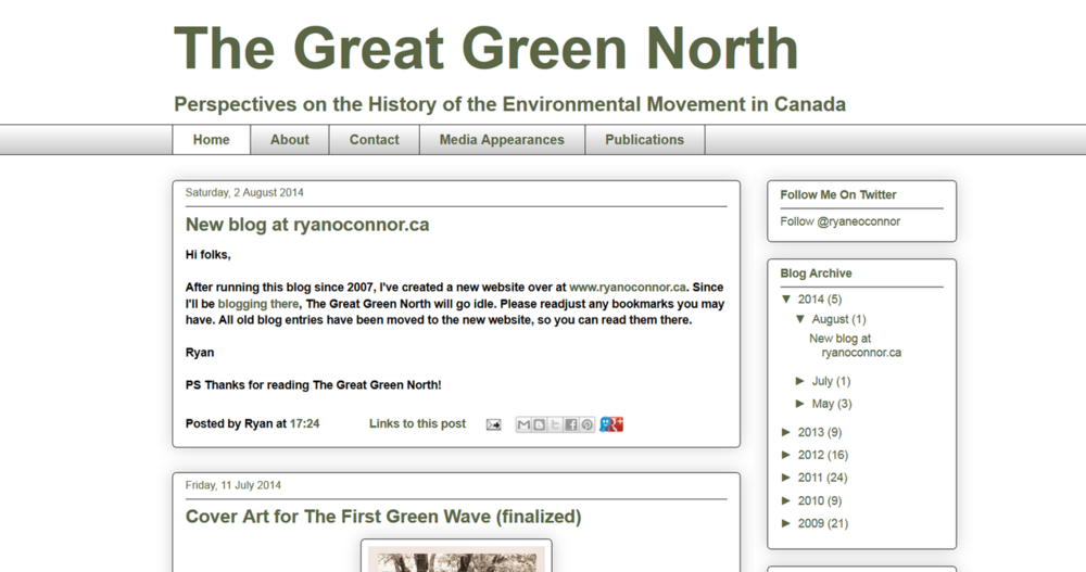 Screen capture from www.thegreatgreennorth.com.