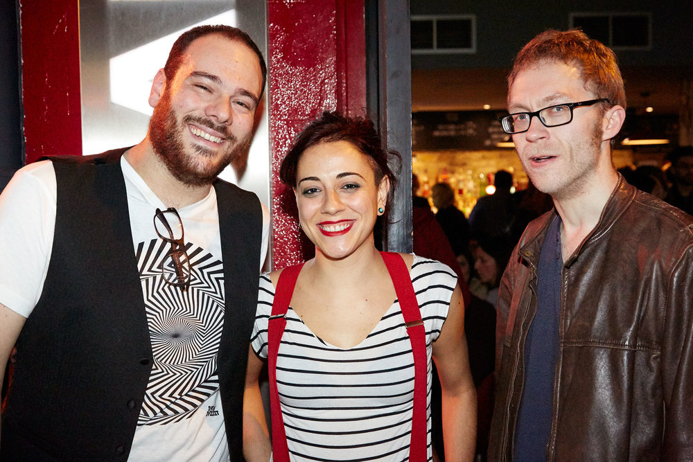 Gian Luca w/ Emanuela Monni and Karl M Smith after the show for Oxjam Clapham - London 11/2015  Pic by Matthew Pull
