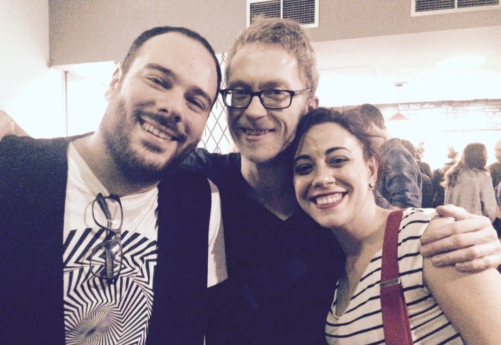 Gian Luca w/ Karl M Smith and Emanuela Monni after the show for Oxjam Clapham - London 11/2015