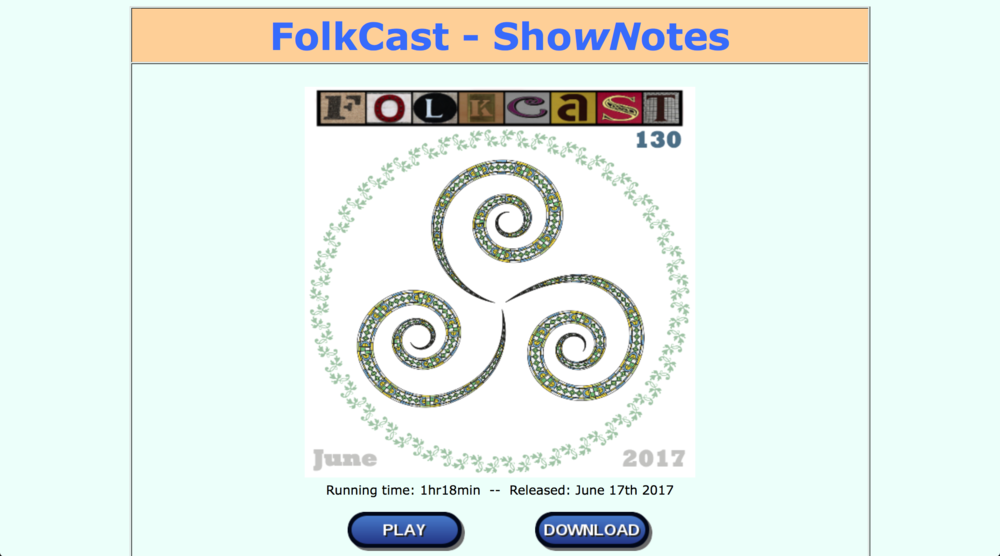 Folkcast podcast #130   Pleatings on the Waters featured on Folkcast: the podcast that brings you the worlds of folk, folk-rock, singer-songwriter and roots music.  by 'Folkie Phil' Widdows - 17/06/2017