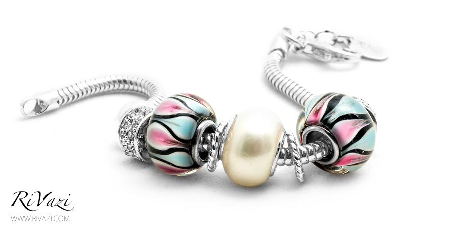 RiVazi Pearl Charm Bracelet Sterling Silver _ B.jpg