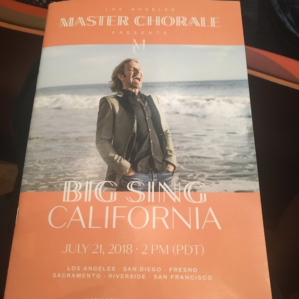 Selah Gospel Choir sings as a featured partner choir with LA Master Chorale in  Big Sing California!