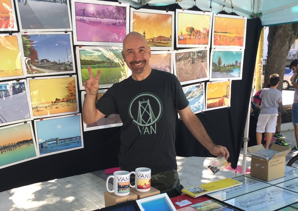 WEST ENDER MARCUS WILD WILL BE AMONG THE MANY ARTISTS TAKING PART IN THIS YEAR'S WEST END ARTS MARKET, RUNNING EVERY SUNDAY AT JIM DEVA PLAZA FROM MAY 7 TO OCTOBER 29. (PHOTO COURTESY OF WEARTS)