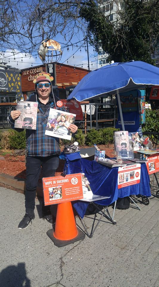 Stephen Scott at his post on Davie at Thurlow. Stop and say hello! (Dave Davey Decarlo Photo)
