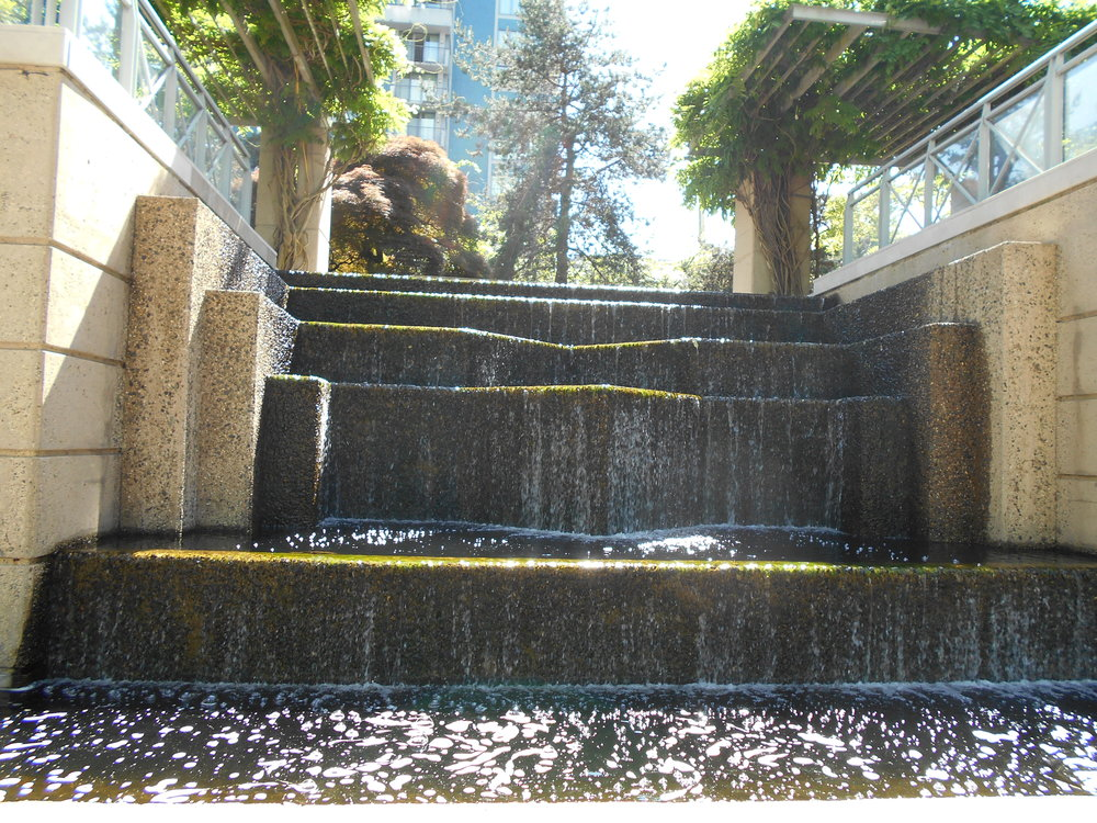 Waterfall garden at Pacific Palisades.