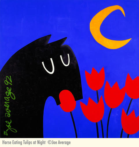 Horse Eating Tulips at Night : 1992 .jpg