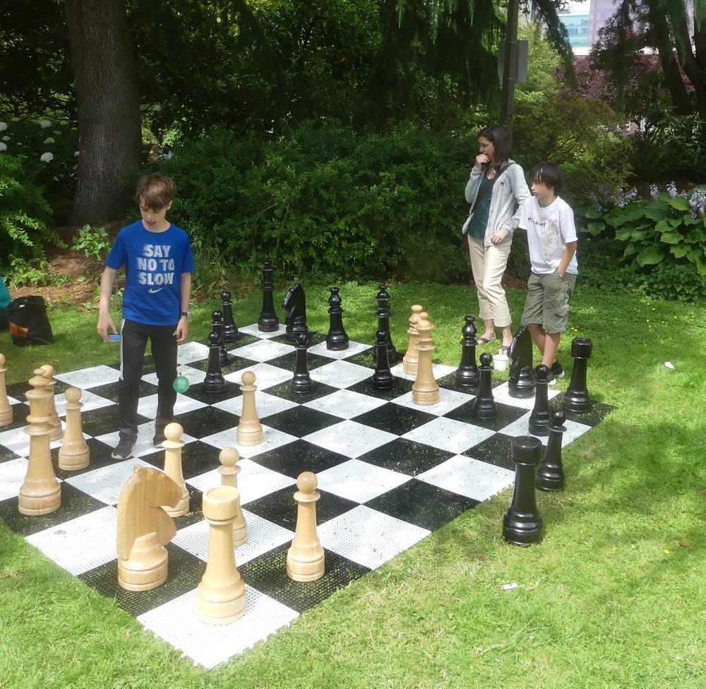 Lawn chess.