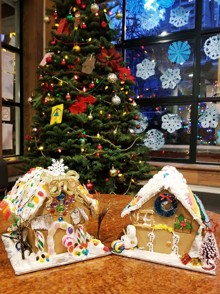 Gingerbread House entries by the folks at Vancity on Robson.