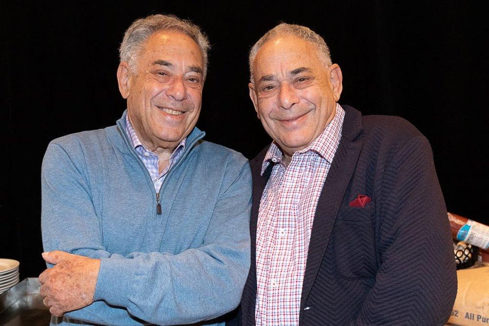 Jeffrey and Peter Barnett at 80. (Jocelyne Halle Photo)