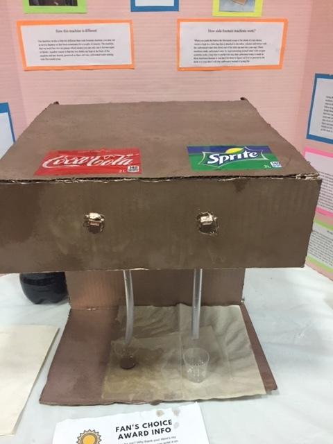 An ingeniously designed working soda fountain.