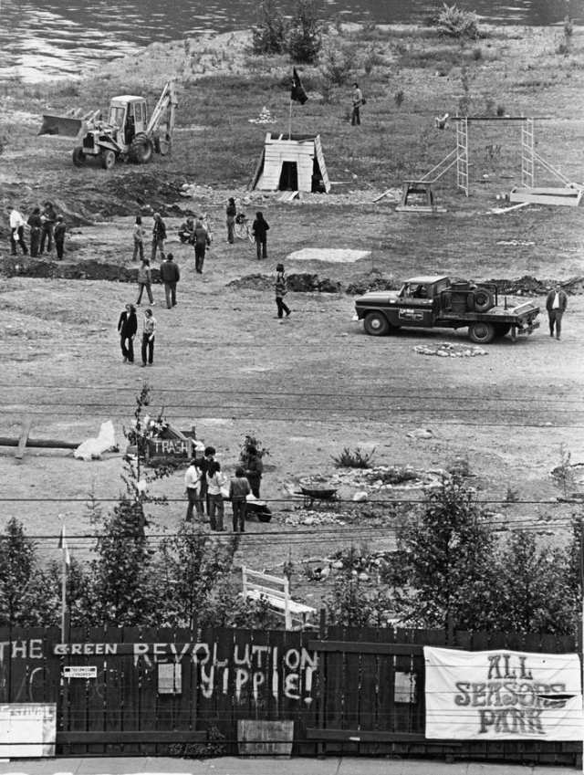 """VANCOUVER'S 1971 OCCUPATION OF """"ALL SEASONS PARK""""."""