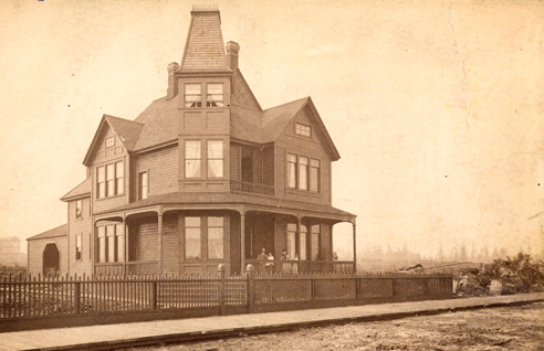 The Ceperley residence in 1888 at 1116 West Georgia.
