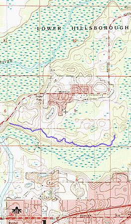 Hike with Chris at Wilderness Park. Track and map captured with BackCountry Navigator app on HTC One X phone.