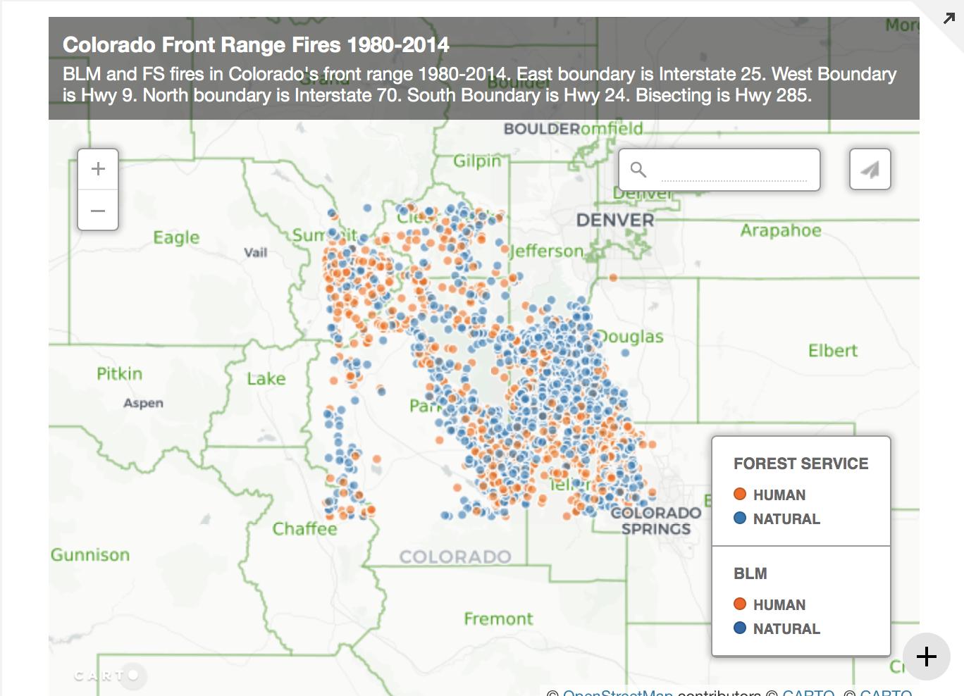 Hwy 285 Colorado Map.Hwy 285 Corridor Fire Data 1980 2014 18 Chains