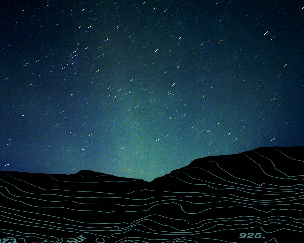 "Northern Lights I,  2006   Archival digital pigment print, Edition of 9   20"" X 24"""