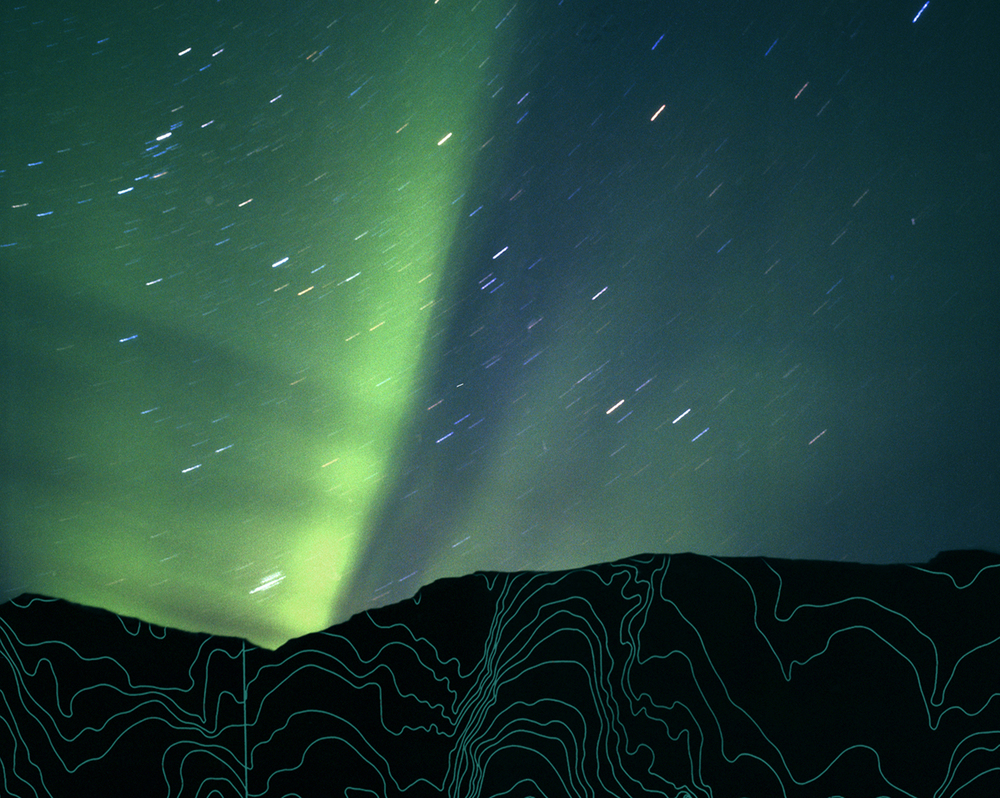"Northern Lights II,  2006   Archival digital pigment print, Edition of 9   20"" X 24"""