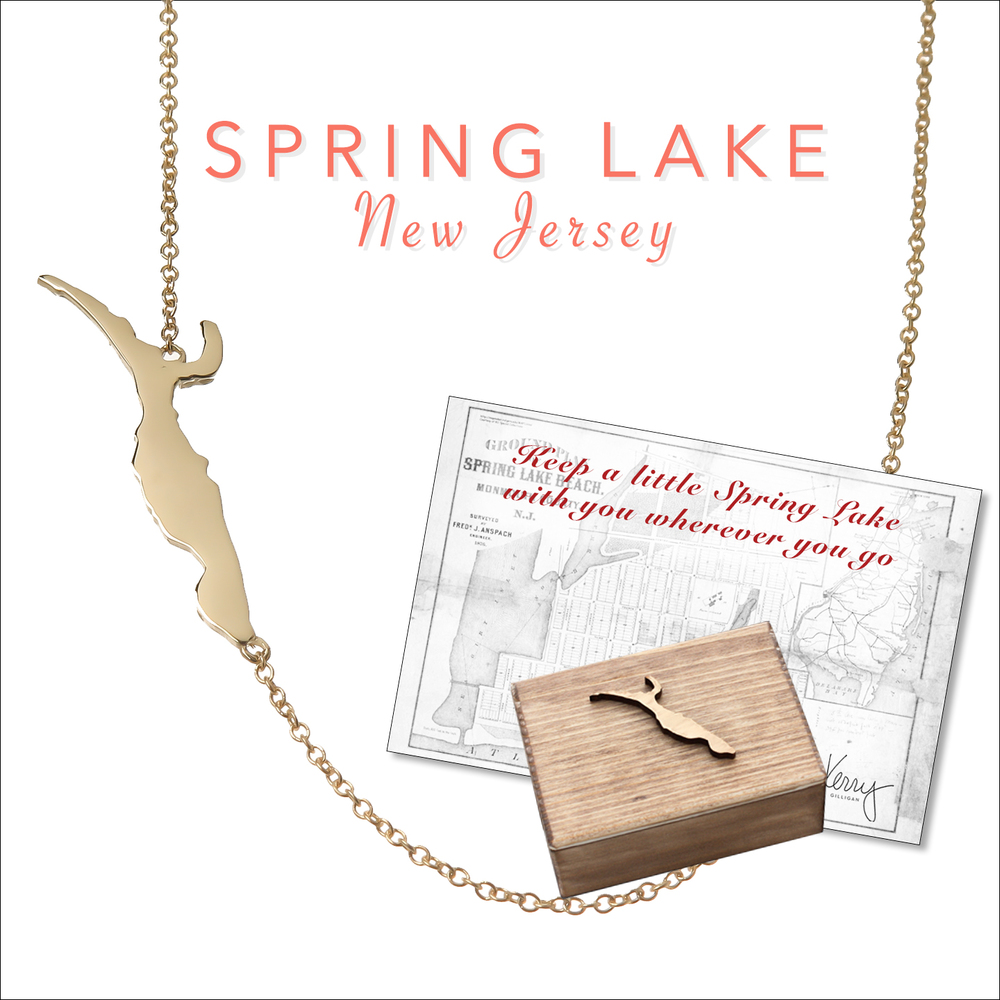 spring lake nj necklace on the map by kerry gilligan