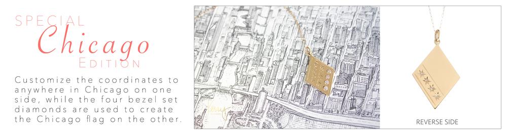 Kerry Gilligan Chicago Coordinates Necklace