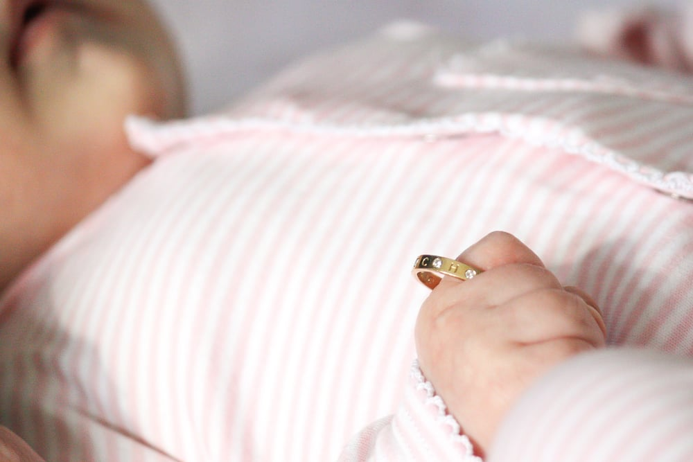Custom Baby Present Ring by Kerry Gilligan