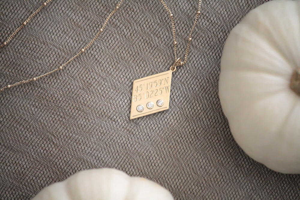 Coordinates Pendant by Kerry Gilligan