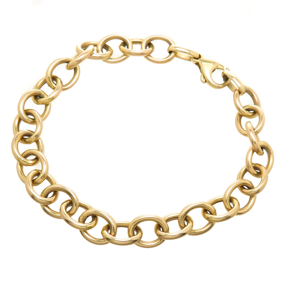 vintage gold link bracelet solid 14k yellow gold kerry gilligan.jpg